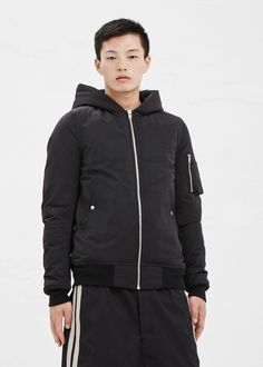 Rick Owens Flight Bomber Jacket in Black #totokaelo #rickowens #bomberjacket