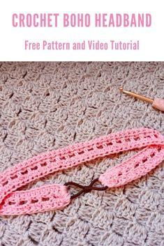 Crochet Headband Tutorial, Easy Crochet Headbands, Crochet Headband Free, Lace Headbands, Crochet Geek, Crochet Crafts, Crochet Projects, Crochet Fish Patterns, Craft Patterns