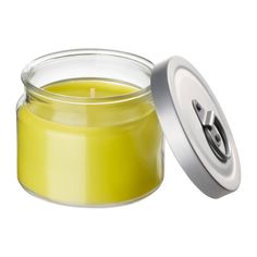 IKEA - FLÄRDFULL, Scented candle in glass, Extinguish the candle by putting on the lid, which closes the scent in too.Keeping the lid on when the candle is unlit preserves the scent longer.