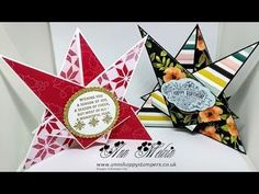 Gorgeous Unusual Star Effect Card - YouTube