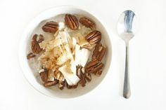 Brown Rice Apple Coconut Breakfast Bowl via Rabbit Food For My Bunny Teeth