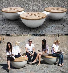 mobiliario urbano, seat, minimalist