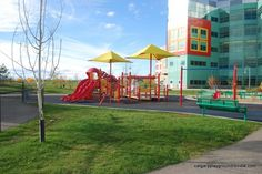 Alberta Children's Hospital Playground, Calgary AB  We can see this from our hospital room - unit 3 is the best !