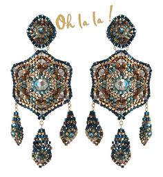 Swarovski Gold Fill Statement Swarovski Crystal by OhlalaJewelry, $129.00