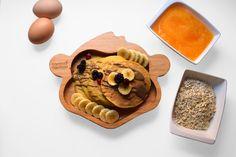 Pumpkin Pancakes, 3 Ingredients, Waffles, Gluten, Hands, Sugar, Cookies, Breakfast, Healthy