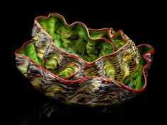 Chihuly. Love this piece!  It takes the best of the Seaform, and combines it with the colors of the Macchia!