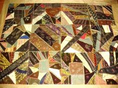 Antique Crazy Quilt Signed L V Taylor 1893 Arts Crafts Period Colors