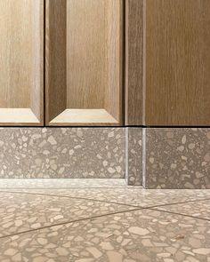 wood to terrazzo floor Architecture Details, Interior Architecture, Interior And Exterior, Furniture Layout, Furniture Arrangement, Arranging Furniture, Floor Design, Wall Design, Joinery Details