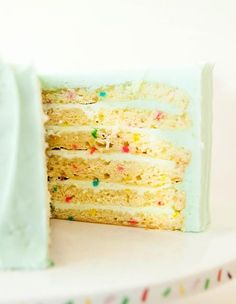 Susie Cakes' Vanilla Celebration Cake - the best cake ever! Cupcake Recipes, Cupcake Cakes, Cupcakes, Yummy Treats, Sweet Treats, Celebration Cakes, Susie Cakes Celebration Cake Recipe, Best Cake Ever, Confetti Cake