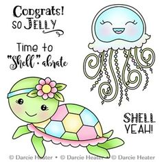 So Jelly, Darcie's Clear Stamps - Gelee Ideen Doodle Drawings, Doodle Art, Easy Drawings, Easy Butterfly Drawing, Butterfly Dragon, Monarch Butterfly, Cute Turtle Cartoon, Image Stamp, Butterfly Template