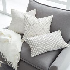 """""""These @westelmlondon cushions are just perfect!! """" Photo taken by /athome/.withabby on Instagram."""