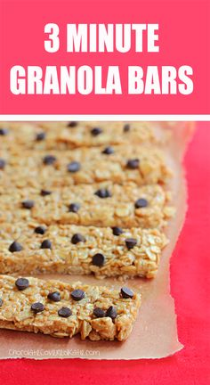 10 DIY Protein Bar Recipes With 5 Ingredients or Less is part of Protein granola bars - Say goodbye to long ingredient lists! Each of these protein bar recipes comes together in a matter of minutes with five or fewer ingredients No Bake Granola Bars, Healthy Granola Bars, Healthy Bars, Healthy Sweets, Healthy Baking, Healthy Snacks, Easy Snacks, Healthy Recipes, Protein Snacks