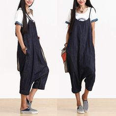 Loose Fitting Blue cowboy  Pants Women Clothing by AlisaClothing, $52.00