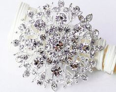 Rhinestone Brooch Embellishment Pearl Crystal by yourperfectgifts