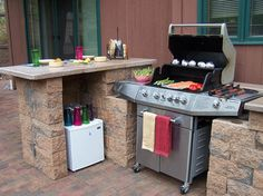 Outdoor Kitchens and BBQ Surrounds - traditional - Patio - Other Metro - Allan Block Retaining Wall and Patio Wall Systems
