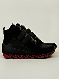 Bernhard Willhelm x Camper To Sneakers in black at oki-ni