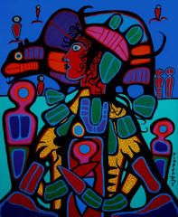 Bear Walker Society, by Norval Morrisseau, Canadian First Nations Native American Artists, Canadian Artists, Canadian Painters, Kunst Der Aborigines, Art Database, Indigenous Art, Naive Art, Aboriginal Art, Art Themes