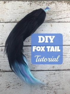 DIY Fox Tail Tutorial - this is NOT your grandma's yarn project!  This may be one of the coolest yarn projects I've seen in a while!