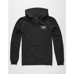 Vans Full Patched Mens Hoodie ($46) ❤ liked on Polyvore featuring men's fashion, men's clothing, men's hoodies and black