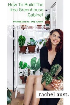 As one of my lockdown projects I wanted to build one of these Ikea Milsbo cabinets. Learn step-by-step the plans I used to assemble this DIY indoor greenhouse, including the supplies and materials you will need, what plants to house in your greenhouse cabinet, and how to set up your IKEA greenhouse cabinet from the humidity, lighting, fan and more. Read more to learn how to build your own indoor greenhouse. Indoor Greenhouse, Greenhouse Ideas, Growing Herbs, Growing Tree, Grow Cabinet, Ikea, Flower Shops, Clean Living, Grow Lights