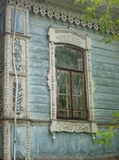 from a quieter storm blog....19th century window from Russia