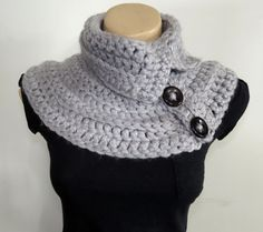 NECK WARMER Multi-wear crochet cowl knitted by GnarlyKnitsGroup