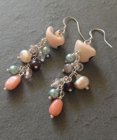 Summer Shell Earrings, part of the Seashell Collection by Ametista Designs