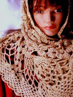 HOLIDAY SALE 15% Off  Elegant Hand Crochet Head Wrap - Shawl by VictoriaCrochet, $44.99