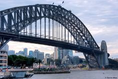 Without a doubt, one of the most famous bridges in the world…….the Sydney Harbour Bridge in Sydney Australia.     Photo was taken just from the corner of the ocean terminal building down in the Rocks.