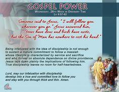 Gospel Power – Wednesday 26th Week
