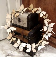 Recycled Book Page Butterfly Wreath- step by step tutorial