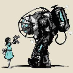 Bioshock fan art by Jaruzel.