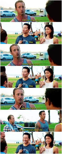 hawaii five 0 alex o'loughlin grace park daniel dae kim scott caan h50: 6x13 look at this doofus setting out rules that bamf cousins were never going to break in the first place but which steve himself was always going to break