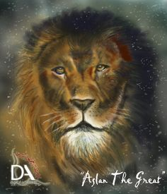 """Aslan the Great""  Digital Oil Painting    Adobe Photoshop CS6 and Corel Painter 12"