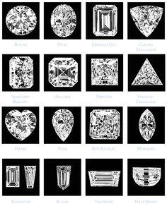 #diamond guide Diamonds are created with pressure. Pick your favorite cut.