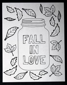 Get This Free Printable Mason Jar Coloring Page For Fall A Great