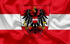 Download wallpapers Austria national football team, emblem, logo, flag, Europe, flag of Austria, football