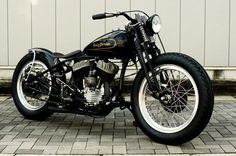 Harley-Davidson Flathead springer bobber | Bobber Inspiration - Bobbers and Custom Motorcycles | vanderbeer September 2013