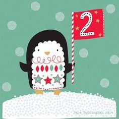 Day 2! Christmas advent, Faye Buckingham 2014 Christmas Animals, Christmas Images, Christmas Design, Christmas Art, Christmas Holidays, Christmas Calendar, Christmas Countdown, Christmas Greetings, Christmas Doodles