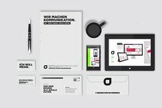 Corporate Design und Geschäftsausstattung in eigener Sache. Neugründung einer Design- und Kommunikationsagentur in Leonberg. 361° http://www.361.de
