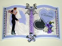 3D Buchkarte Hochzeit Nr. 463 von *M 3d, Etsy, Map Wedding, Vintage Cards, Lilac, Newlyweds, Crafting, Nice Asses