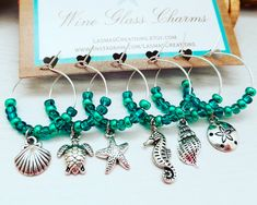 4fb6a0f15b5b9 313 Best Wine Glass Charms images in 2019 | Wine glass charms, Baby ...