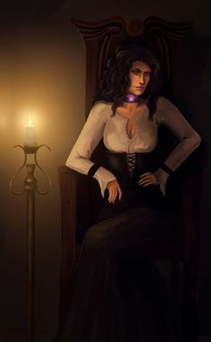 Yennefer by dess-mid
