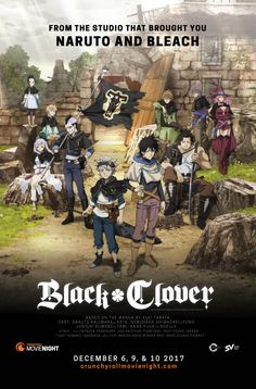 """Black Clover"" to Hit North American Theaters in Crunchyroll's Movie Night by Mike Ferreira"