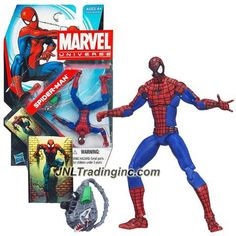 Hasbro Year 2011 Marvel Universe Series 4 Single Pack 4 Inch Tall Action Figure Set #007 : SPIDER-MAN with Web-Pack Plus Collectible Comic Shot
