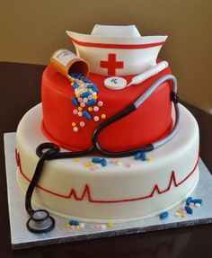 RN cake - but I think I will turn it into a Dr. Cake when my daughter graduates from med school next year ... cute idea