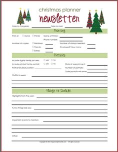 Christmas Newsletter Printables - #christmas #printable