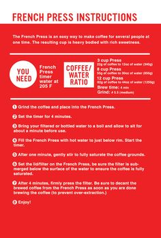 Ritual Roasters :: French Press Guide