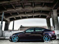 2005 Lexus with blue wheels