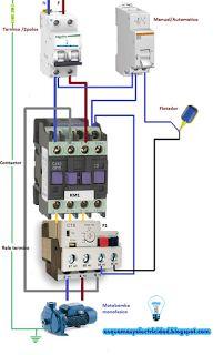 Esquemas eléctricos: Esquema motor bomba monofásico